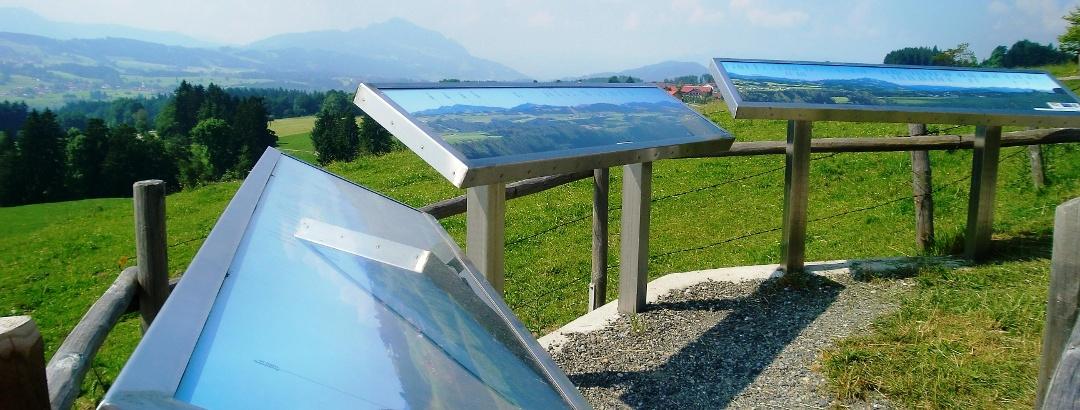 Panoramatafeln am Heinrichsweg