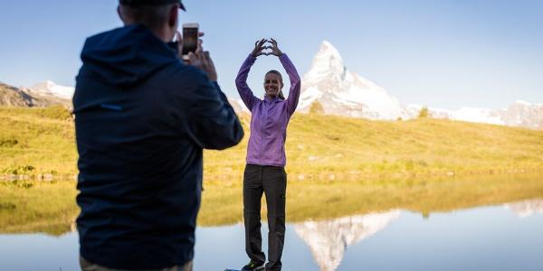 Die prächtige Sicht aufs Matterhorn ist ein beliebtes Fotosujet.