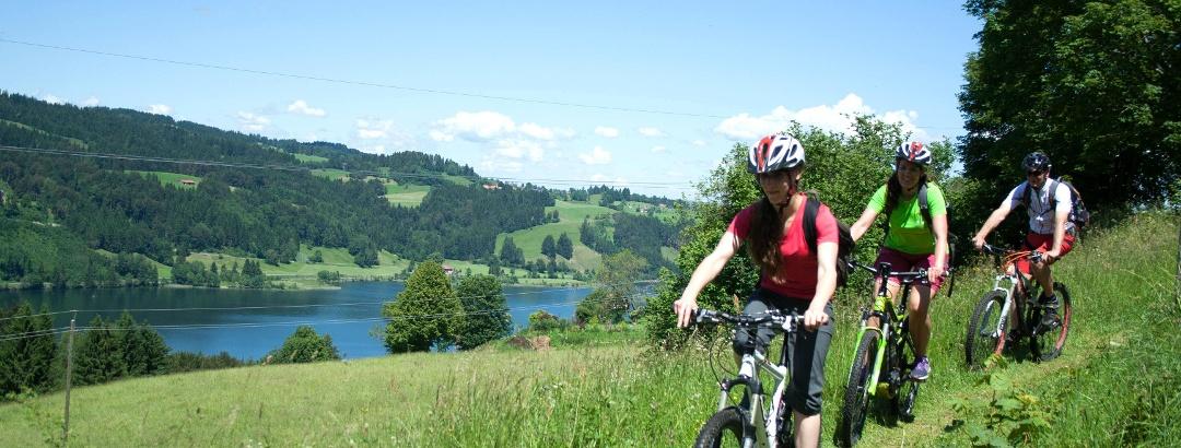 Mountain biking at Großer Alpsee