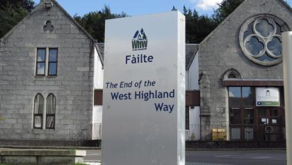 End of the West Highland Way