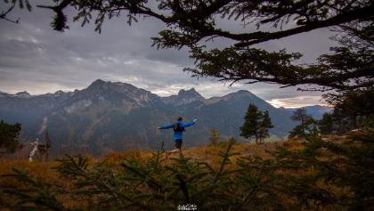 Aussicht vom Zirmengrat auf Aggenstein und Breitenberg