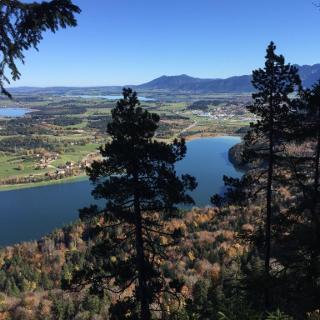 Blick vom 4 See-Blick  auf den Weißensee