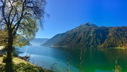 Beginn der Fahrt am Achensee in Richtung Achenkirch