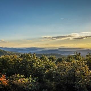 Őszi naplemente a Sós-hegyről