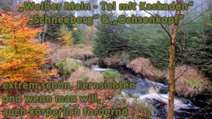 Titelbild zur Wanderung Kaskaden im Weißmaintal, Schneeberg & Ochsenkopf