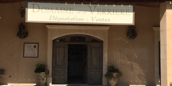 "The cave for ""degustation"" at the Domaine de Verriere"