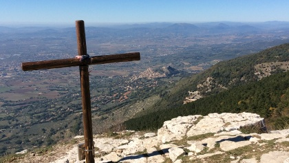 Viewpoint on Monte Subasio, Assisi in the distance.