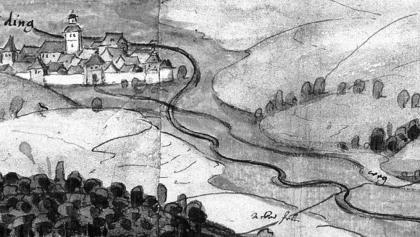 Gammertingen - historisches Gemälde