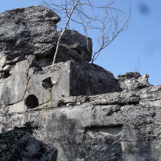 Festungsanlage auf dem Monte Tombio