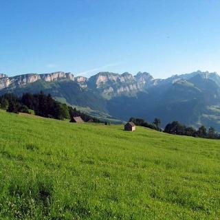 Ausblick vom Eggli in den Alpstein