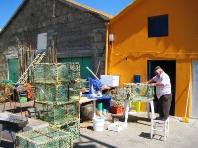 Vila Cha: Fischer bei der Arbeit