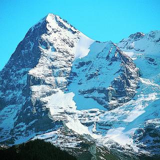 Eiger und Eigergletscher vom Lauberhorn