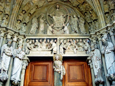 Lausane: cathedrale - painted gate