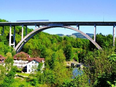 von Kräzern- auf Fürstenlandbrücke über Sitter