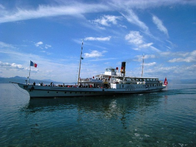 Raddampfer Rhône