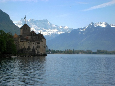 Château de Chillon und Dents du Midi