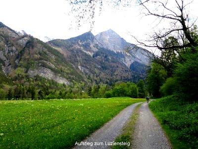 Aufstieg zum Luziensteig (mit Falknishorn)