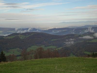 Hohe Winde, Blick gegen Basel