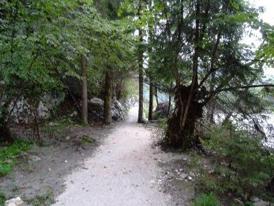 Schöner Weg dem Fluss entlang