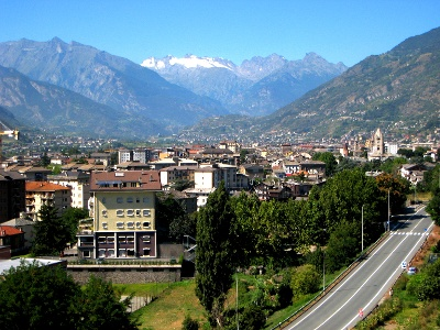 Sguardo indietro su Aosta
