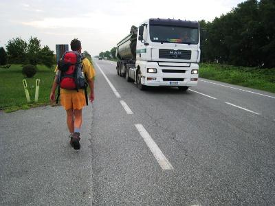 Départ de Santhià par la route