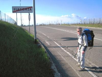 Chemins de pèlerinage à la sortie de Piacenza