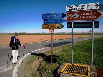 Abzweigung nach Chiaravalle