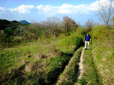 einsamer Aufstieg Richtung Cassio