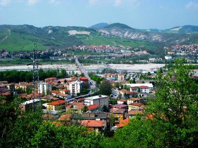 Blick zurück auf Fornovo di Taro