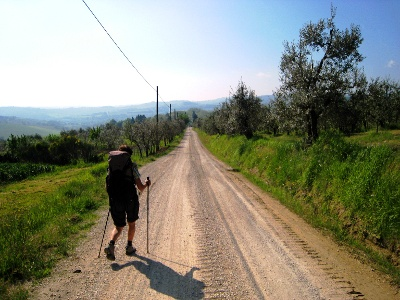 on the way to San Giminiano