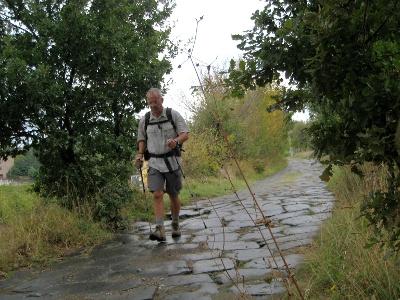 hiking on the antique Via Cassia