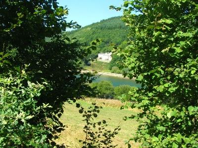 erster Blick auf Stausee Lac de Lauozas