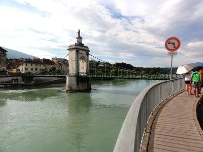 Seyssel: alte Rhône-Brücke
