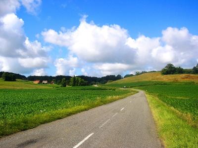 D946 (alte Route)  hinter Arzacq-Arraziguet