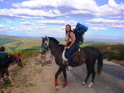 Pferde-Pilger auf dem Camino