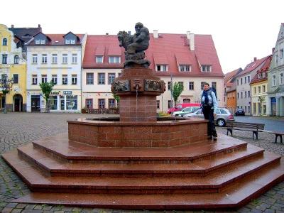 Wurzen: Ringelnatz-Brunnen