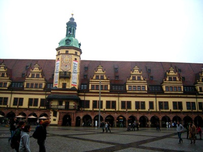 Leipzig: altes Rathaus am Markt