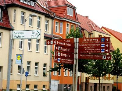 Viele Wanderwege  führen aus Greifswald
