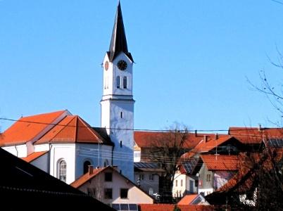 Görisried mit Kirche St. Oswald