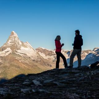Stunning panorama with the Matterhorn