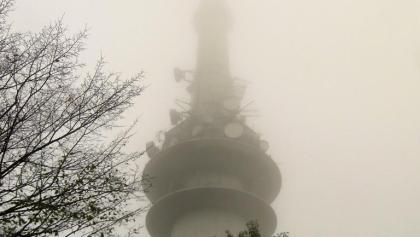 Der Nebel steigt - Sendeturm SWR