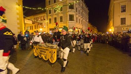 Bergparade in Freiberg