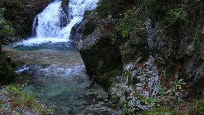 Höhepunkt in der Vintgarschlucht: Vintarski sum (Wasserfall)