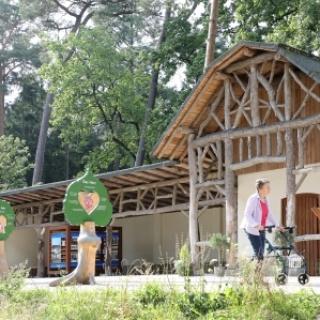 Liegehalle im Waldpark des Gartenschau-Geländes