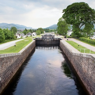 Neptune's Staircase and the Caledonian Canal