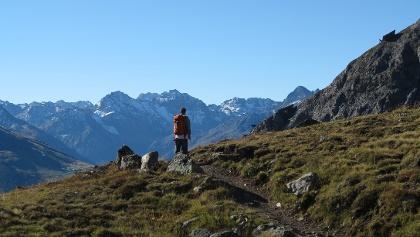 Auf dem Höhenweg zum Strelapass.
