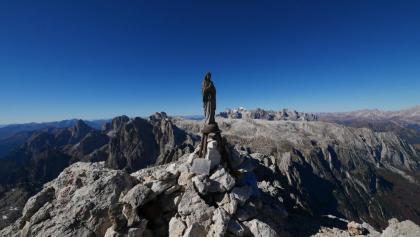 Marienstatue am Gipfel der Croda Granda