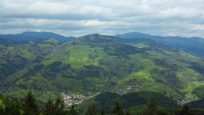 Blick von der Hohen Möhr über den Schwarzwald.