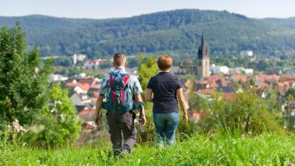 Wanderer auf dem nördlichen Sachsenring