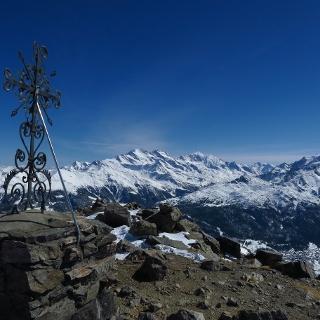 Auf dem Augstbordhorn-Gipfel.